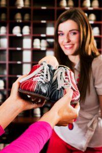 Schuhe zum Bowling